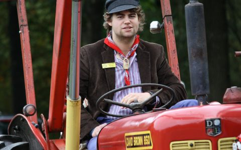 trekker optocht tractor